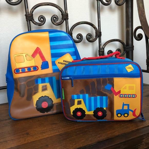 Construction Backpack + Lunchbox set